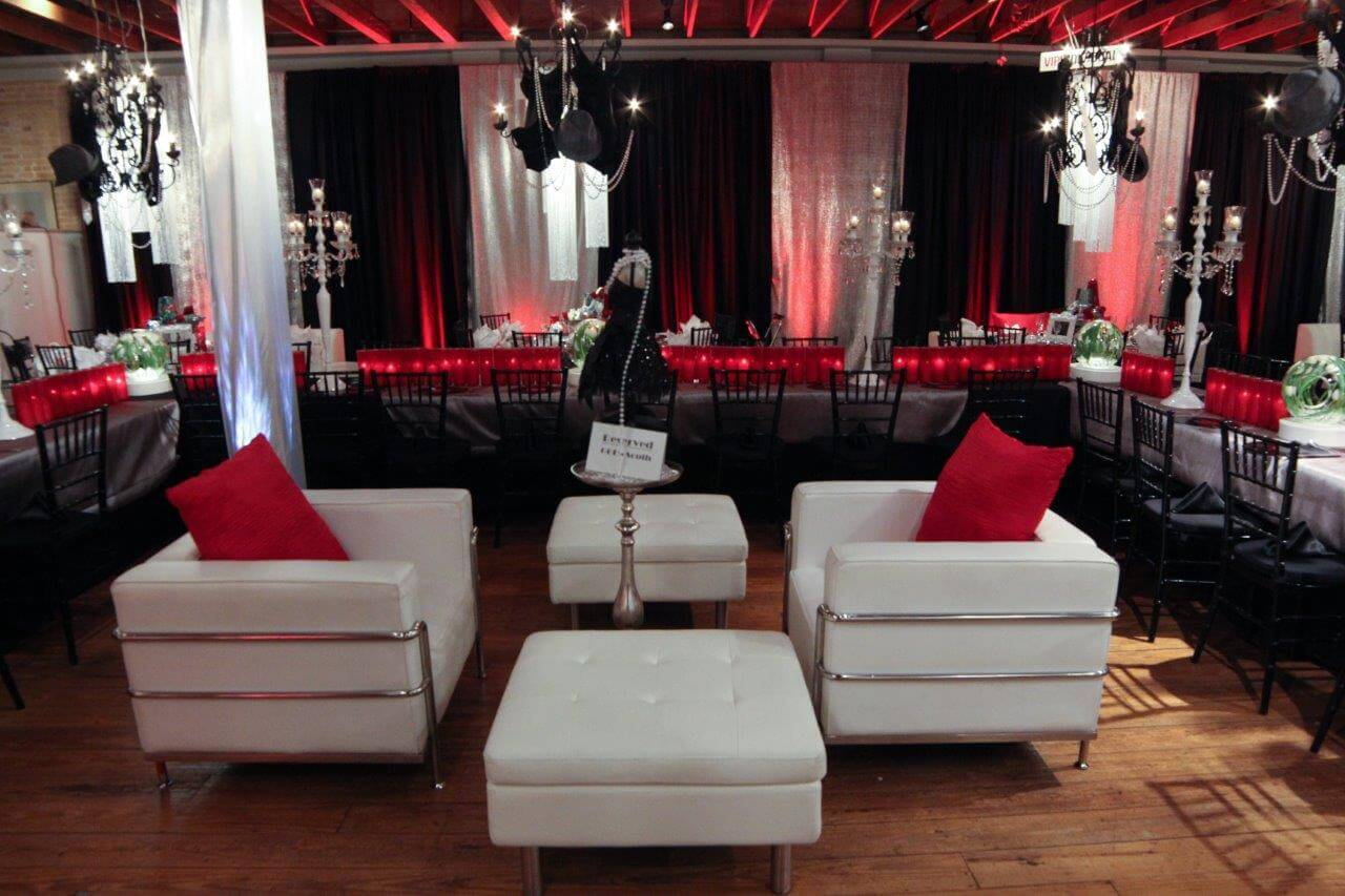 event staging and decor